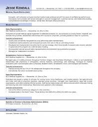 Resume Medical Sales Sample Freeumes Tips Equipment Device Examples