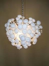 home art lighting milk white hand blown glass chandelier