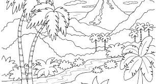 Coloring Pages For Adults Nature Landscape Coloring Pages For Adults