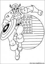 Pagine Da Colorare Stampabili Capitan America Disegno Da Colorare
