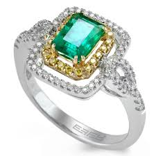 basilica by effy emerald and diamond ring