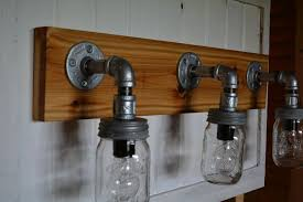 excellent inspiration ideas mason jar bathroom light fixture the vanity is designed to give a blend