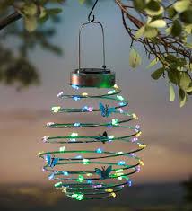hanging solar lantern decoration erfly solar accents design ideas of outdoor garden decorations