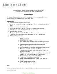 Simple Social Media Marketing Manager Description Social Media