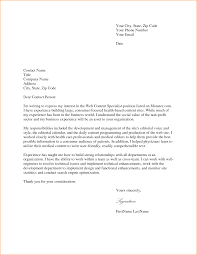 Sample Cover Letter Format For Job Application
