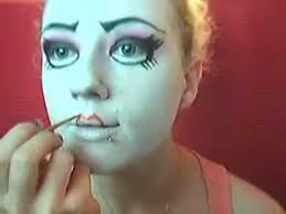 doll costume makeup creepy cute doll makeup agaclip make your video clips