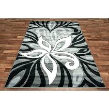 chevron rug black and white area rugs modern grey rug flower silver color blend