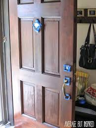 Front Doors : Refinishing A Front Door Wear Gloves To Apply Stain ...