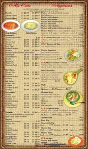 mexican food appetizers menu. Modren Appetizers A La Carte And Appetizers Menu For Mexican Food