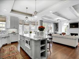 Kitchen Family Room Design Kitchen Kitchen Peninsula Opens To Family Room Kitchen And