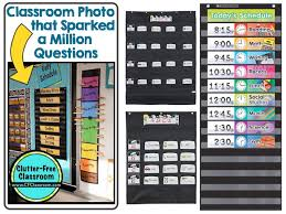 Calendar Pocket Chart Set Black Pocket Charts In The Classroom Clutter Free Classroom