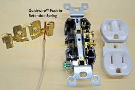 "electrical outlets side wire versus back wire electrical outlet back wiring leviton quickwireâ""¢ backstab closeup"