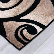 black and brown area rugs allstar rugs evolution swirl black brown area rug wayfair brown black
