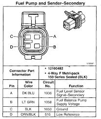gm fuel pump wiring diagram gm image wiring diagram gm fuel pump new one is not colar coded all 4 wires are black on gm