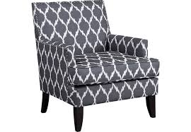 Gray Pattern Accent Chair
