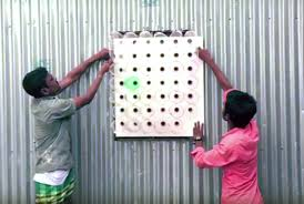 this amazing deshi air cooler is made from plastic bottles and uses no electricity