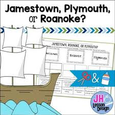 Jamestown And Plymouth Comparison Chart Pin On 2 Social Studies