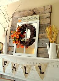 simple rustic and bright fall mantel decorations