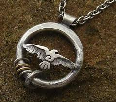 raven silver necklace for men