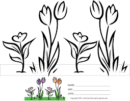 Free Spring Coloring Sheets: Cartoon Spring Scene - Flowers from ...