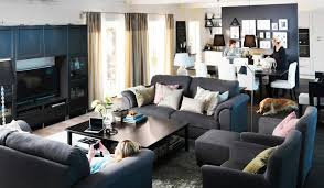 ikea livingroom furniture. Interactive Living Room Design With Ikea Furniture Sets : Fascinating Blue And Black Livingroom
