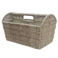 Seagrass Magazine Holder Buy Seagrass Magazine Holder Storage Basket from The Basket Company 2