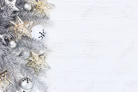 Holiday Branches With Lights Silver Christmas Fir Tree Branches With Lights Garlands And Holiday