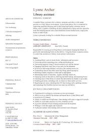 library assistant cv sample librarian resume examples