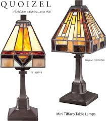quoizel tf1018tvb and tf1021tvb mini tiffany table lamps