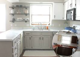 these painted kitchen counters the painted cabinets make this kitchen look brand new from the thome home