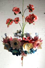 hanging paper chandelier paper flower chandelier by corr a based artist diy hanging paper chandelier