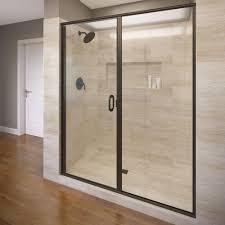semi frameless shower doors. Basco Infinity 47 In. X 76-1/8 Semi-Frameless Semi Frameless Shower Doors