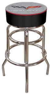 padded swivel bar stools. Simple Bar Chevrolet Corvette Padded Swivel Bar Stool With Stools L
