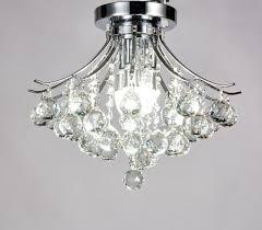 flush mount crystal chandelier. Diamond Life Modern Style 3-Light Chrome Finish Crystal Chandelier Flush Mount Ceiling Light Fixture 2