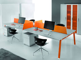 orange office furniture. Orange White Open Floor Plan Desk Office Furniture I