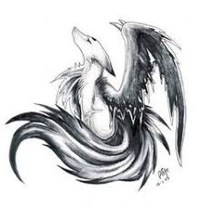white wolf with wings drawing. Never Pays Too Much Attention To Lower Wolves But Always Makes Sure Intended White Wolf With Wings Drawing