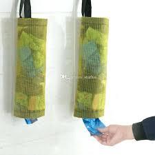 trash bag holders plastic holder and dispenser polyester transpa grid hanging garbage bags storage kitchen bathroom