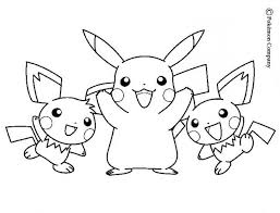 Small Picture Pikachu and friends coloring pages Hellokidscom