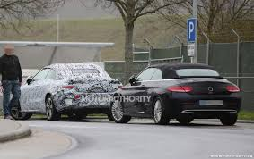 2018 mercedes benz e class coupe. interesting coupe 2018 mercedesbenz eclass cabriolet spy shots  image via s baldauf on mercedes benz e class coupe
