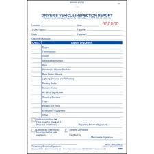 Technical Report Template Gorgeous Simplified Driver's Vehicle Inspection Report Vertical Format 48