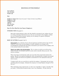 Personal Business Letter Format Example Formal Template