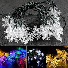 New Solar Snowflake String Light 5m 20LED Outdoor Christmas Tree Decorative Led Globe Lights From Ok676,