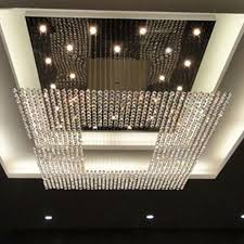 hotel lobby lighting. New Square Modern String Big Crystal Chandeliers Hotel Lobby Chandelier Lighting Led Lamp Pendant Online With $789.59/Piece On