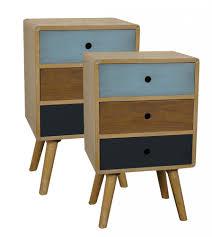 retro style furniture cheap. JASPER BEDSIDE SET OF 2 Retro Style Furniture Cheap C