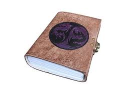 dragon embossed leather journal diary instagram photo al lock with handmade paper