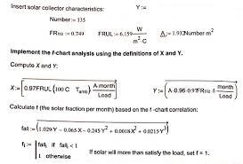 Solved Problem 2 F Chart Method I Solar Heating Fraction