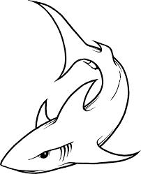 Free Shark Line Art Download Free Clip Art Free Clip Art