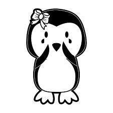 girl penguin clip art black and white. Delighful Art Girl Penguin Crying Cute Animal Cartoon Icon Image Vector Illustration  Design Black And White Stock Vector In Girl Penguin Clip Art Black And White E