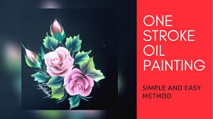how to paint one stroke flower using oil oil painting step by step
