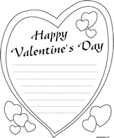 Small Picture Valentine Heart Shape Letter Paper Coloring Sheet